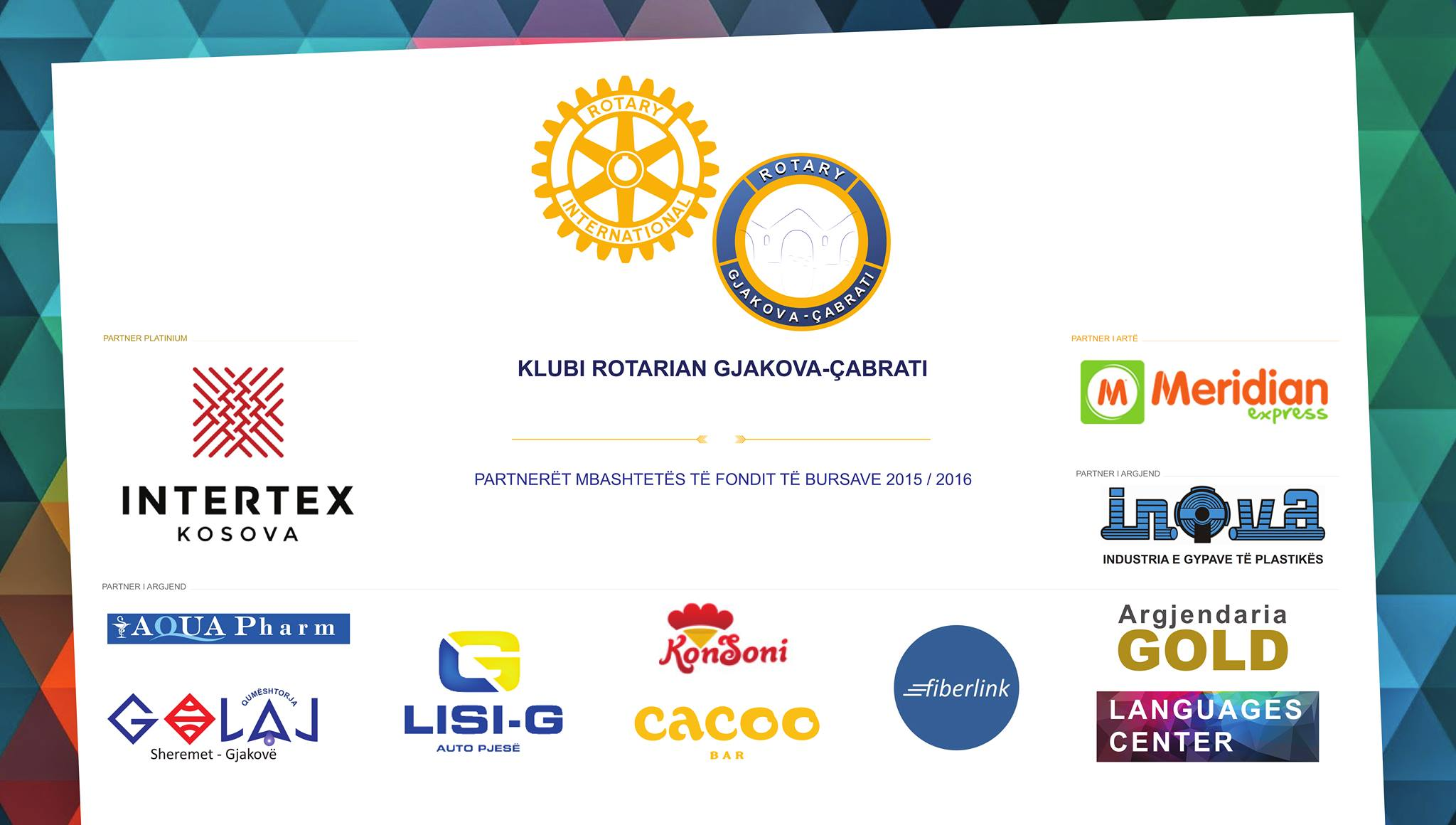 Fondi i Bursave për Student pranë Klubit Rotarian Gjakova-Çabrati