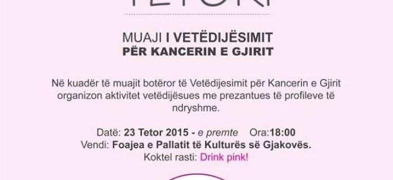 Aktivitete Vetëdijesimi për Kancerin e Gjirit nga Klubi Rotarian Gjakova-Çabrati