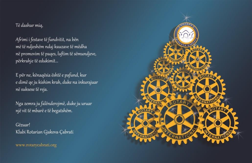 Gëzuar Viti i Ri nga Klubi Rotarian Gjakova-Çabrati