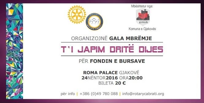 Ftesë për Pjesëmarrje në Gala Mbrëmjen Bamirëse Për Fondin e Bursave