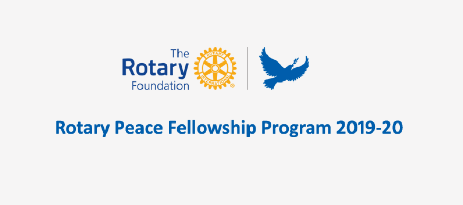 Applications for the 2019-20 Rotary Peace Fellowship program