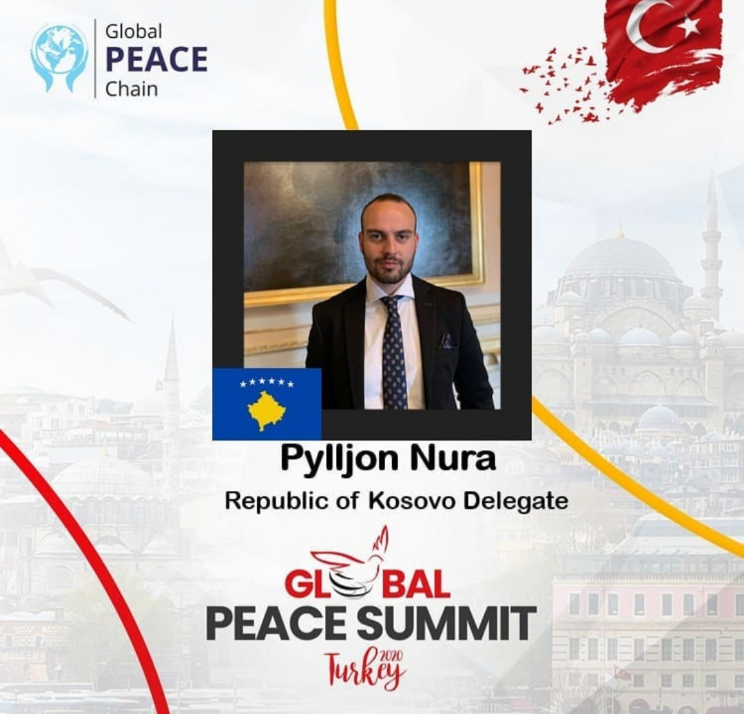 Rotaract ''Gjakova'' member Pylljon Nura, will represent Kosovo at Global Peace Summit